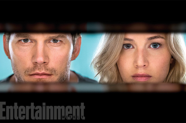 """Дженнифер Лоуренс и Крис Прэтт на первых фотографиях из фильма """"Пассажиры"""""""