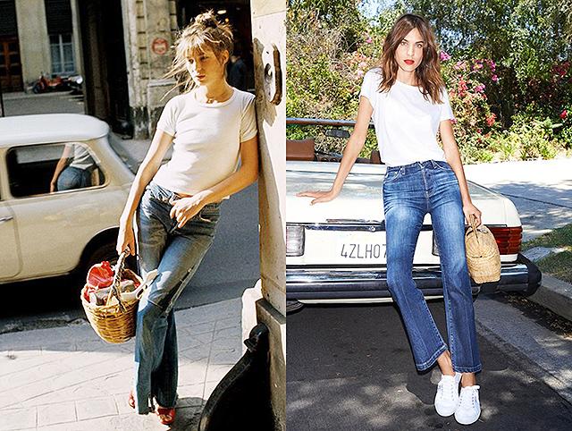 Модная реинкарнация: сравниваем стиль Джейн Биркин и Алексы Чанг