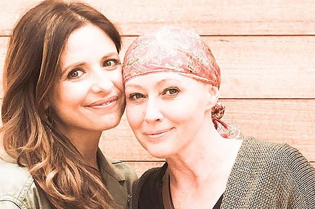 Сара Мишель Геллар поддержала борющуюся с раком Шэннон Доэрти