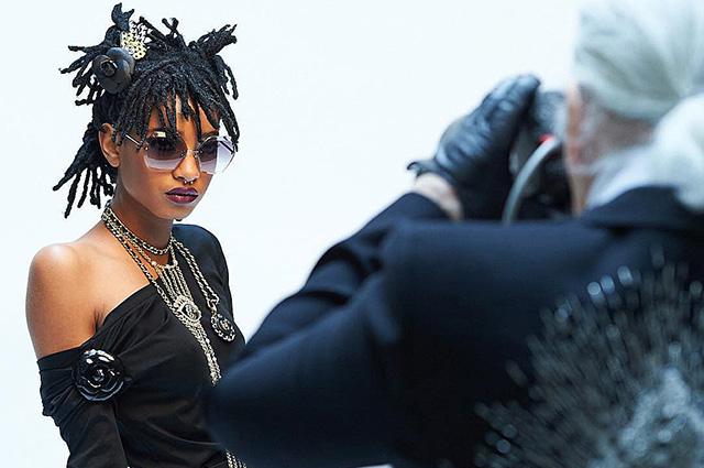 Уиллоу Смит в фотосессии для журнала Карин Ройтфельд и рекламной съемке Chanel