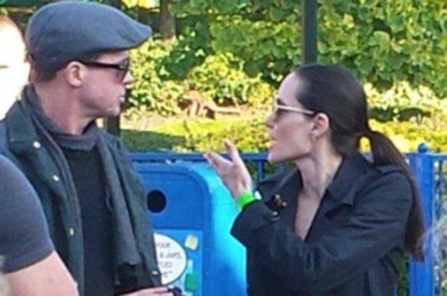 Фотоагентства растиражировали снимки прошлогодней ссоры Анджелины Джоли и Брэда Питта
