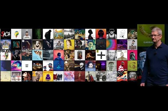 Обложки альбомов Басты и Тимати показали на презентации iPhone 7 Apple