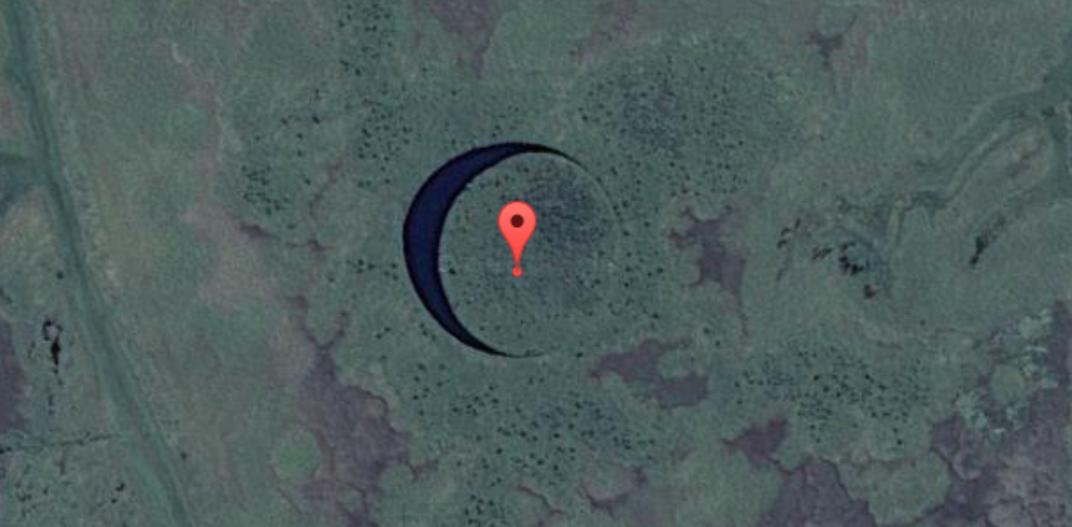 В аргентинских болотах обнаружен идеально круглый вращающийся остров