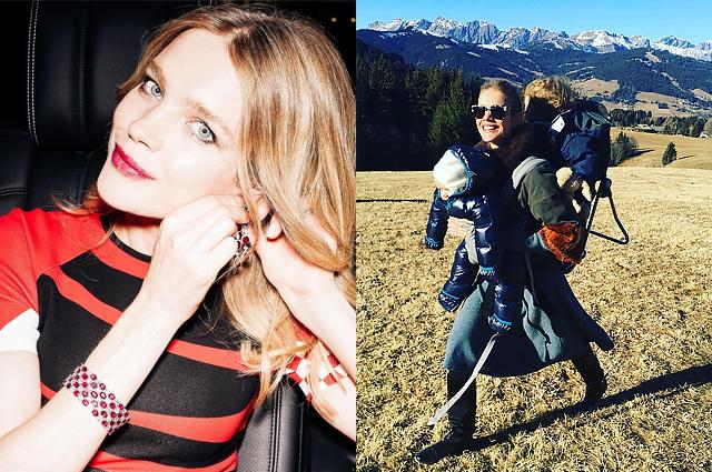 Своя ноша не тянет: Наталья Водянова поделилась фотографией младших детей и поздравила всех с Новым годом