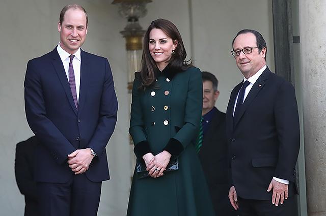 Кейт Миддлтон и принц Уильям впервые прибыли с официальным визитом в Париж