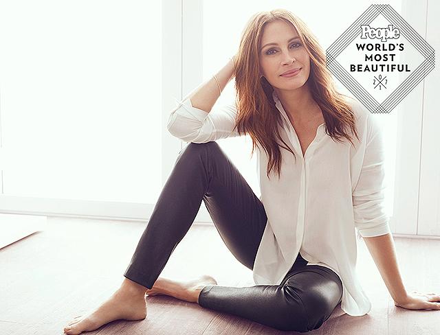 49-летняя Джулия Робертс в пятый раз стала самой красивой женщиной года по версии журнала People