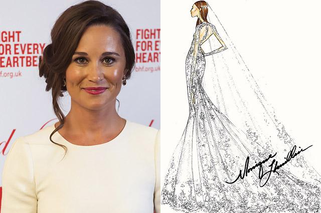 Дизайнеры нарисовали свадебное платье для Пиппы Миддлтон