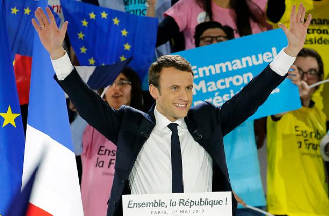 Новым президентом Франции стал Эммануэль Макрон