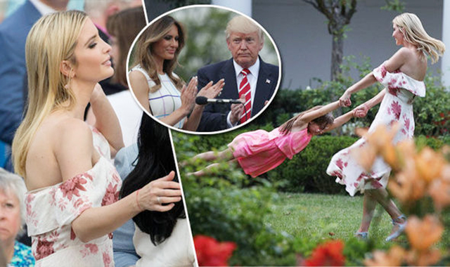 Мелания и Дональд Трамп, Иванка Трамп с семьей на пикнике конгресса в Белом доме