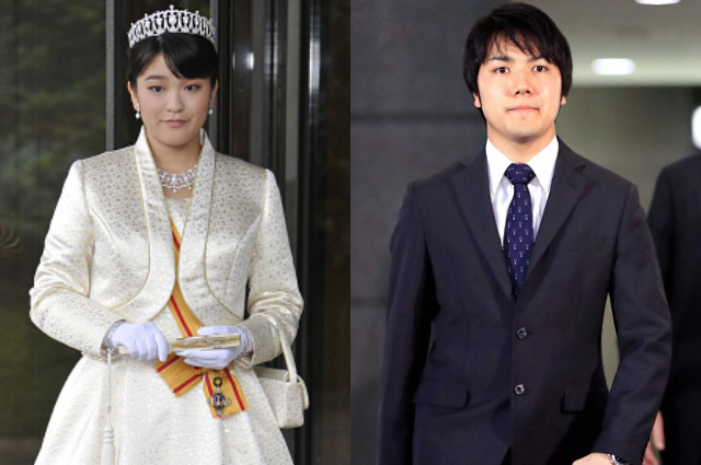Японская принцесса Мако и ее жених Кей Комуро отложили помолвку из-за погодных условий в стране