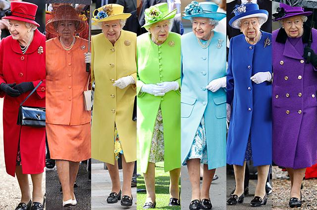 Стало известно, почему королева Елизавета II носит ультраяркие цвета