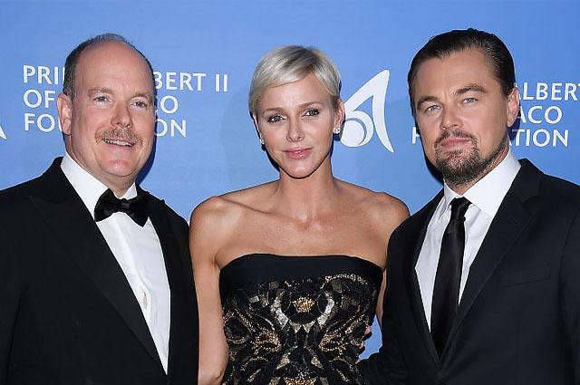 Леонардо ДиКаприо стал гостем благотворительного приема князя Альбера II и княгини Шарлен