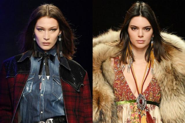 Белла Хадид и Кендалл Дженнер приняли участие в показе Dsquared2 в рамках мужской Недели моды в Милане