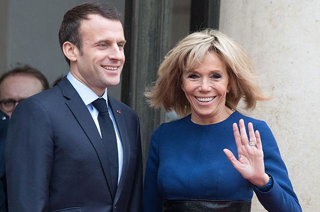 Эммануэль и Брижит Макрон приняли в Елисейском дворце герцога и герцогиню Люксембургских