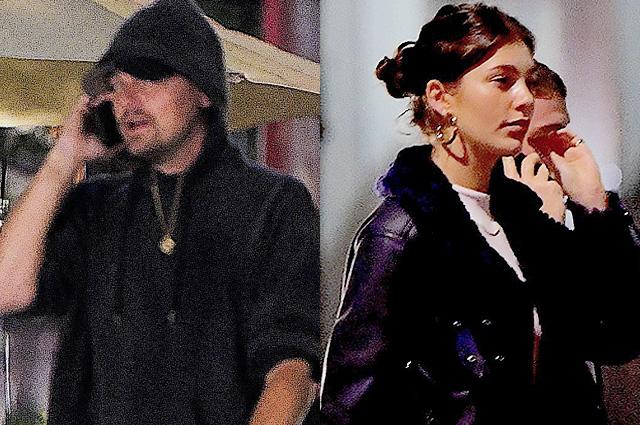 Леонардо ДиКаприо поужинал с новой девушкой Камилой Морроне и моделью Хейли Болдуин: фото