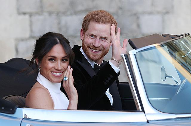 Меган Маркл надела кольцо принцессы Дианы на вечеринку после свадьбы