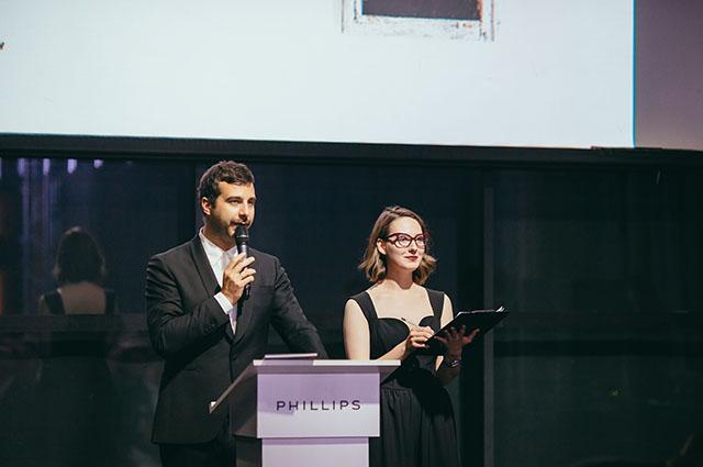 Иван Ургант, Ксения Чилингарова, Екатерина Мцитуридзе на благотворительном аукционе