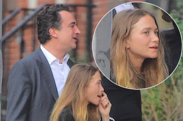 Мэри-Кейт Олсен была замечена на прогулке с супругом Оливье Саркози