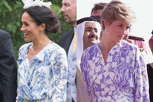 В сети удивились сходству платья Меган Маркл и наряда принцессы Дианы