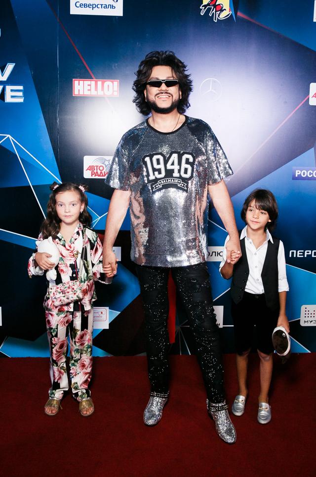 Филипп Киркоров с дочерью Аллой Викторией и сыном Мартином