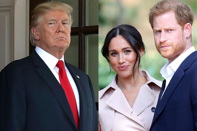 Дональд Трамп заявил, что США не будут платить за безопасность Меган Маркл и принца Гарри