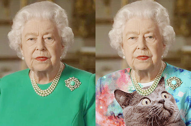 """""""Королева зеленого экрана"""": видеообращение Елизаветы II о коронавирусе стало поводом для мемов в соцсети"""