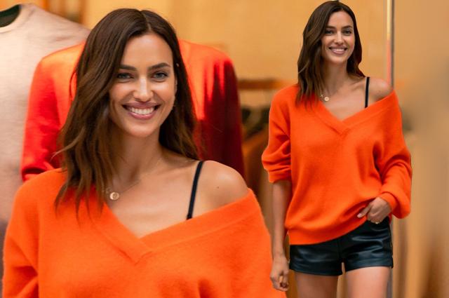 Оранжевое настроение: Ирина Шейк в ярком образе на модном мероприятии