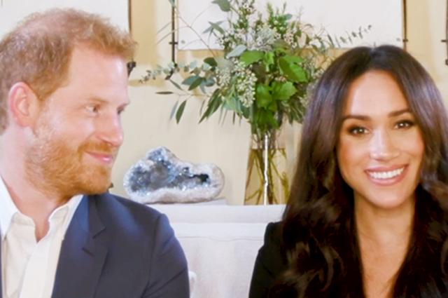 Влюбленный взгляд и разговоры о сыне: Меган Маркл и принц Гарри приняли участие в онлайн-встрече журнала Time