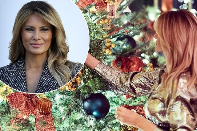 Последнее Рождество в Белом доме: Мелания Трамп показала, как украсила резиденцию президента