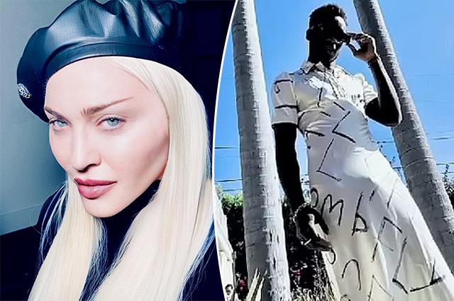 15-летний сын Мадонны устроил домашнее дефиле в платье