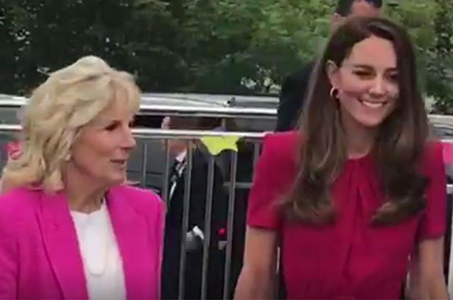 Кейт Миддлтон впервые встретилась с первой леди США Джилл Байден