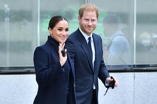 Меган Маркл и принц Гарри впервые появились на публике после рождения дочери